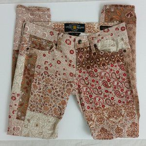Lucky Brand Charlie Skinny Paisley Floral Jeans